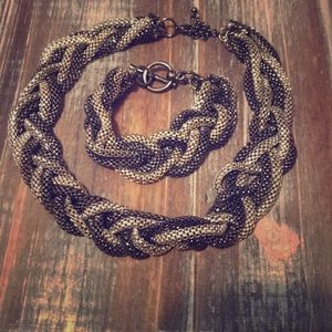 The Limited braided chain necklace